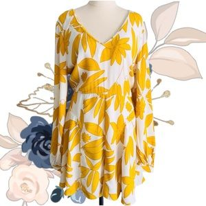 ASOS Floral Long Sleeved Short Playsuit / Romper
